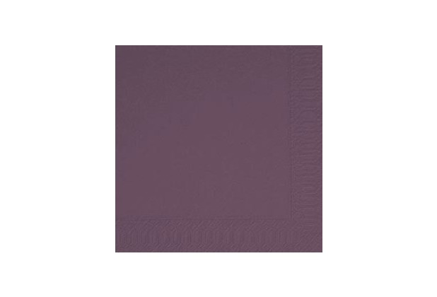 duni hochzeits servietten 3lagig uni lila plum 40 x 40 cm 250 st ck. Black Bedroom Furniture Sets. Home Design Ideas
