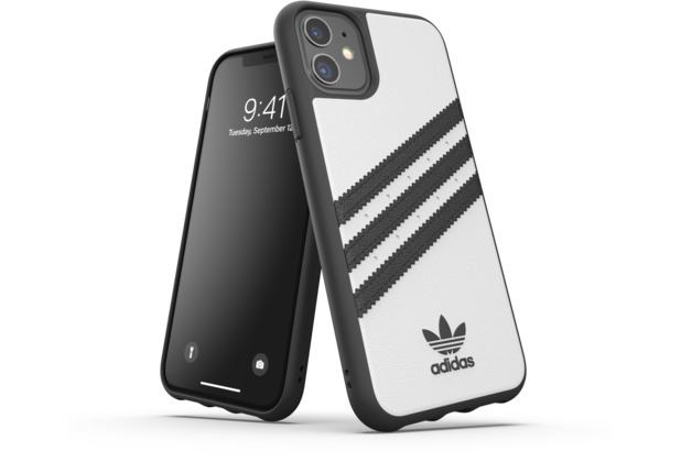 adidas OR Moulded Case PU FW19 for iPhone 11 whiteblack