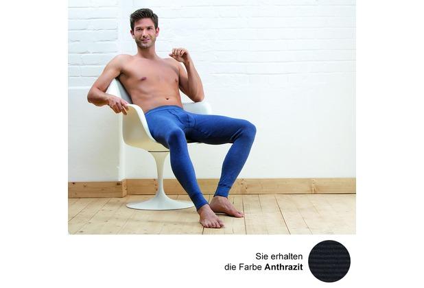 Unterhose lang mit Eingriff 5 6 7 8 9 10 AMMANN Jeans Anthrazit Blau