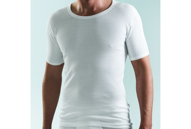 5 6 7 8 5 AMMANN Unterhemd Jacke 1//2 Arm Art.261610 weiß Rundhals Doppelripp Gr