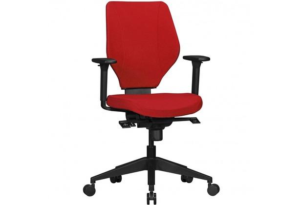 ArmlehnenDrehstuhl Ergonomisch Collin Stoff Bürostuhl Schreibtisch Drehsessel RotDesign Amstyle Synchromechanikamp; Rot Mit In Bezug Stuhl f7g6by