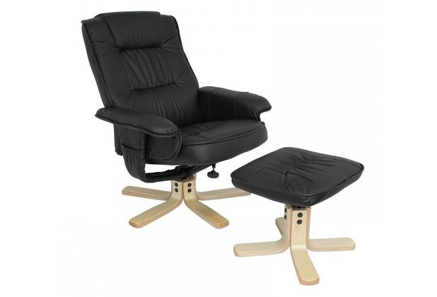 Amstyle Comfort Tv Fernsehsessel Relaxsessel Leder Optik Schwarz