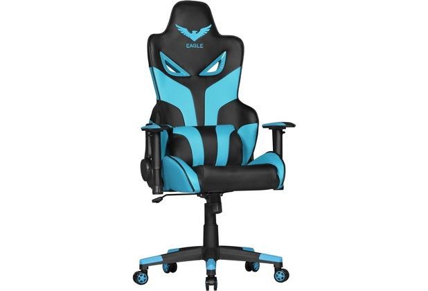 Amstyle Design Schreibtischstuhl Lias Kunstleder Schwarz Blau