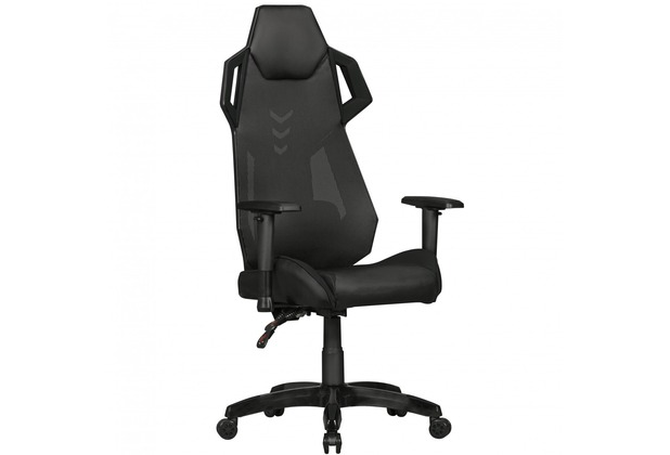 Amstyle Gamepad Gaming Chair Aus Kunstleder Mesh In Schwarz