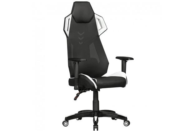 Amstyle Gamepad Gaming Chair Aus Kunstleder Mesh In Schwarz