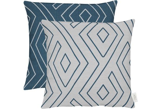 Dekokissen Santorini Mit Blau Weiss Muster 50 X 50 Cm