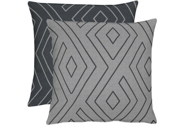 Apelt Loft Style Kissen Grau Schwarz 45x45
