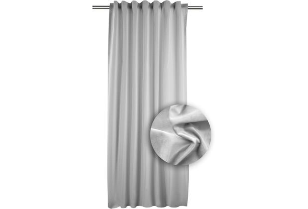 Apelt Unique Fertigschal Mit Universalband Grau 134x245