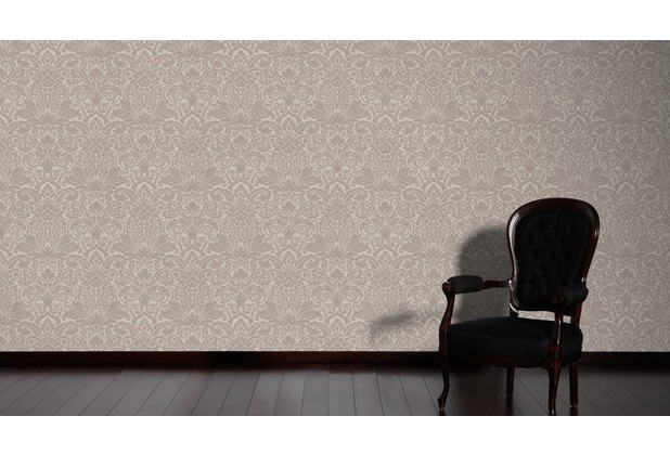 Architects Paper klassische Mustertapete mit Glasperlen Luxury wallpaper Vliestapete braun metallic 10,05 m x 0