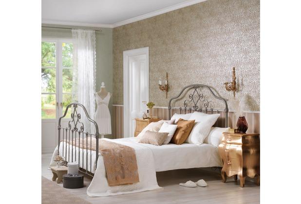 as cr ation bohemian mustertapete tapete gl nzend vintage look klassisch braun gr n. Black Bedroom Furniture Sets. Home Design Ideas