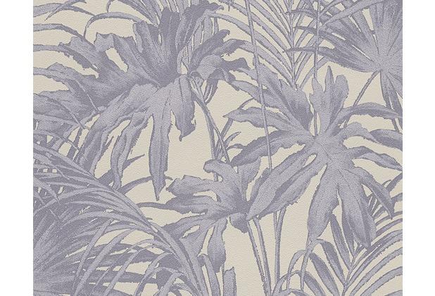as cr ation florale mustertapete im palmenprint soraya. Black Bedroom Furniture Sets. Home Design Ideas