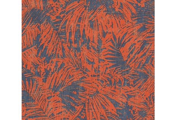 as cr ation florale mustertapete in vintage optik borneo tapete blau metallic rot. Black Bedroom Furniture Sets. Home Design Ideas
