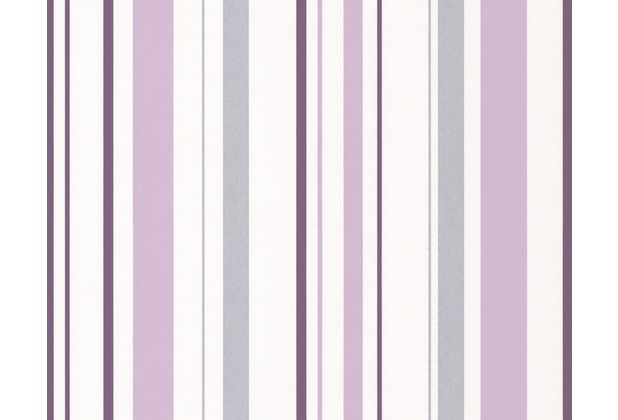 wohnzimmer grau violett: Happy Hour Streifentapete, Tapete, grau, violett, weiss