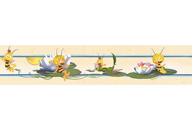 """Selbstklebende Tapete Gelb : selbstklebende Bord?re """"Biene Maya"""", beige, bunt, gelb Hertie.de"""