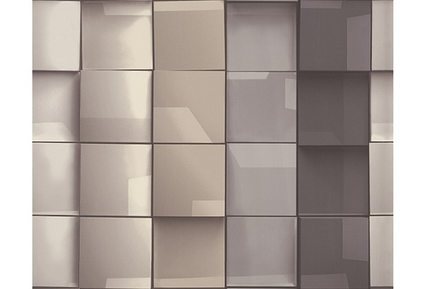 ... in 3D-Optik Move your Wall, Tapete, beige, braun, grau  Hertie.de