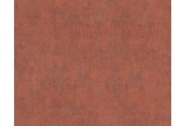 AS Création Mustertapete In Metalloptik New England 2, Tapete, Braun, Grau