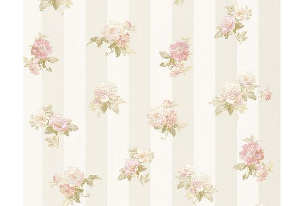 AS Création Mustertapete Romantica 3 Tapete Creme Grau Rosa 10,05 M X 0,53