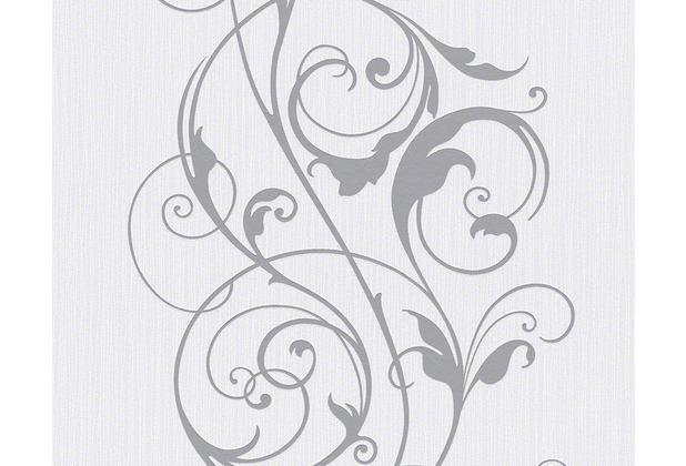 As cr ation mustertapete selina vliestapete floral grau weiss - Muster tapete lila grau ...