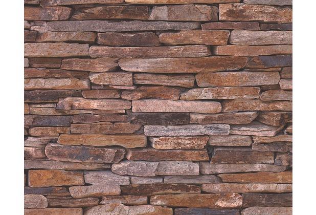 Muster Tapeten Braun Beige : Wood`n Stone, Tapete, Natursteinoptik, beige, braun, gelb Hertie.de