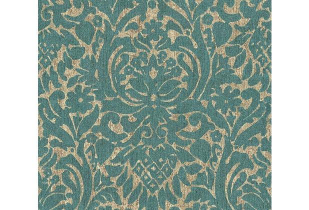 as cr ation neobarocke mustertapete in vintage optik havanna tapete beige blau metallic. Black Bedroom Furniture Sets. Home Design Ideas