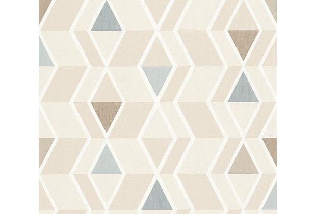 AS Création skandinavische Mustertapete New Look Tapete beige grau ...