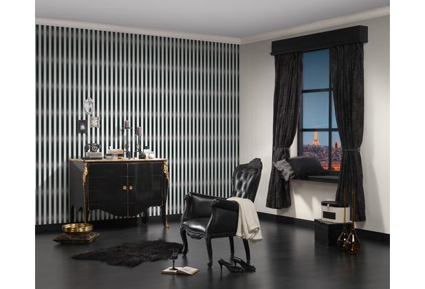 as cr ation streifentapete mit glitter bling bling. Black Bedroom Furniture Sets. Home Design Ideas