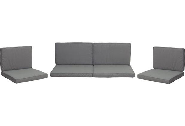 Lounge set grau good loungeset goon teilig webstoff - Loungemobel anthrazit ...