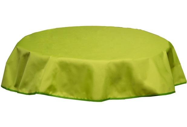 beo tischdecke rund 160 wasserabweisend mit windport hellgr n. Black Bedroom Furniture Sets. Home Design Ideas