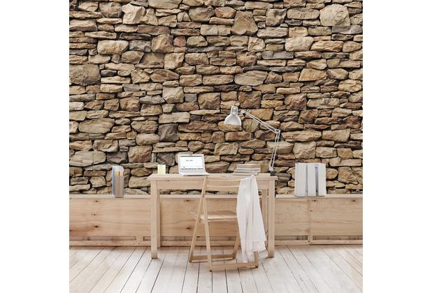bilderwelten vliestapete amerikanische steinwand fototapete breit. Black Bedroom Furniture Sets. Home Design Ideas