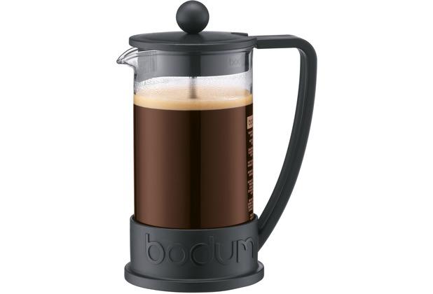 bodum brazil kaffeebereiter 0 35 l 3 tassen schwarz. Black Bedroom Furniture Sets. Home Design Ideas