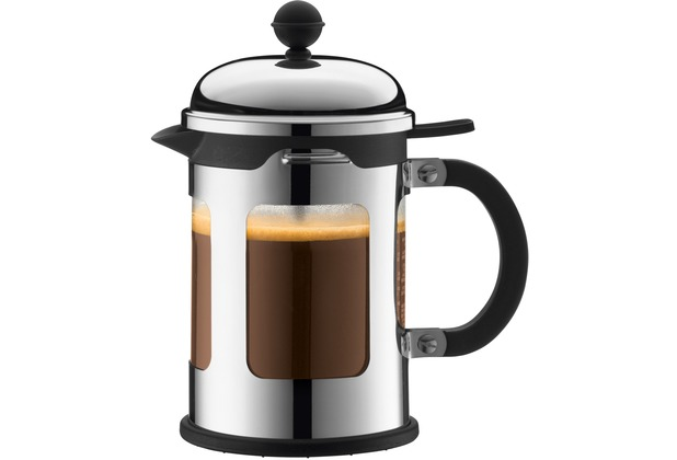 bodum chambord kaffeebereiter 0 5 l 4 tassen gl nzend. Black Bedroom Furniture Sets. Home Design Ideas