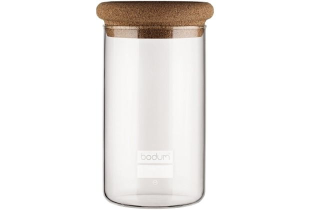 bodum yohki vorratsglas mit korkdeckel 1 0 l kork. Black Bedroom Furniture Sets. Home Design Ideas