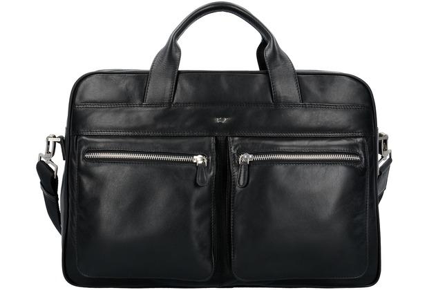 454b38b29c29f Braun Büffel Golf Aktentasche Leder 40 cm Laptopfach schwarz