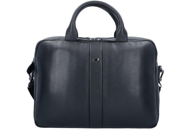 8ad34f0419 Braun Büffel Turin Aktentasche Leder 40 cm Laptopfach schwarz ...