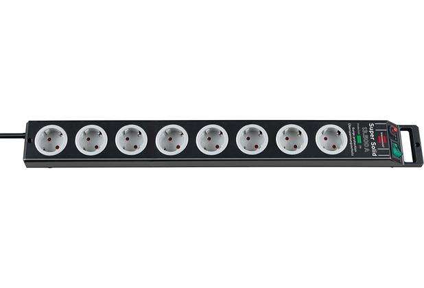 Brennenstuhl Super-Solid ÜSS 8 Steckdosen, schwarz 2,5m Kabel ...