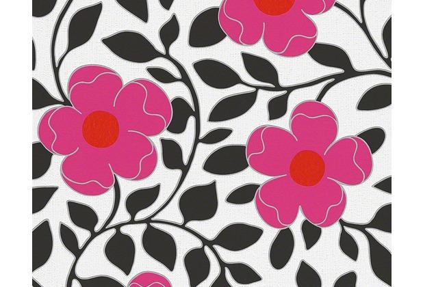 Tapeten Rot Schwarz Wei? : , floral, rot, schwarz, weiss bei Hertie kaufen. Versandkostenfrei