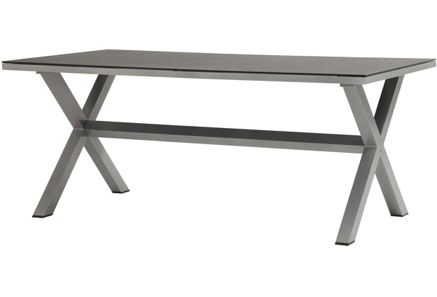 Best Great Gartentisch Holz Alu Ausziehbar Bukatchi Identis Tisch Rechteckig Glas Spraystone Silber With