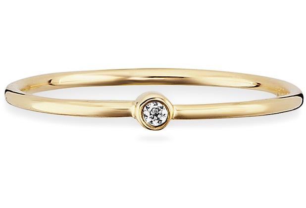 Cai Ring 925 Sterling Silber gelb vergoldet Zirkonia 21739