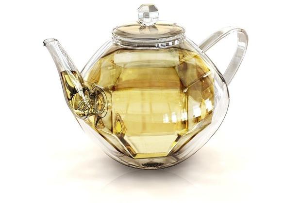 Glas Teekanne creano doppelwandige glas teekanne diamonddesign isolierend ein