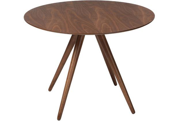 Dan Form Pheno Tisch Rund Walnuss Furniertischplatte Walnuss