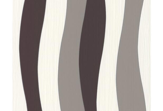 daniel hechter streifentapete tapete braun creme metallic. Black Bedroom Furniture Sets. Home Design Ideas