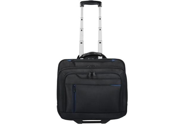 4f2b4f7fd72f3 Dermata 2-Rollen Businesstrolley 42 cm Laptopfach schwarz