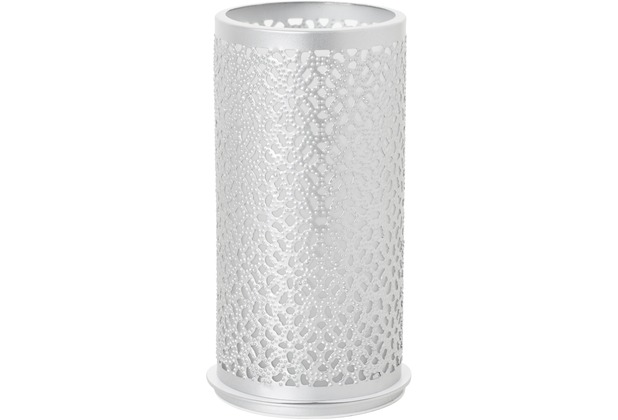 aus Metall für Maxi-Teelichte oder LED 140x75mm Duni Kerzenhalter Bliss silber