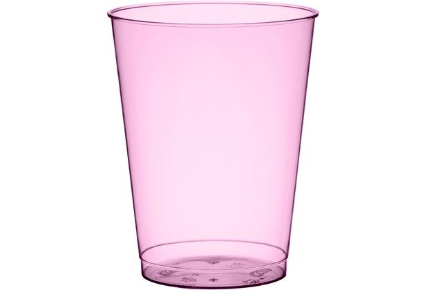 duni gl ser plastik party 25 cl 10 st ck bbq hot pink line. Black Bedroom Furniture Sets. Home Design Ideas