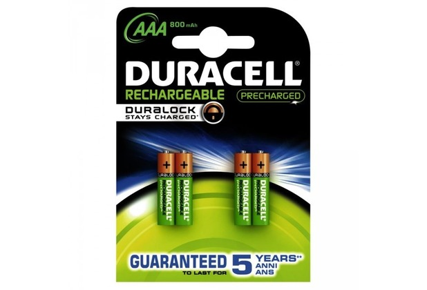 duracell battery staycharged akku aaa 4er 800mah precharged. Black Bedroom Furniture Sets. Home Design Ideas