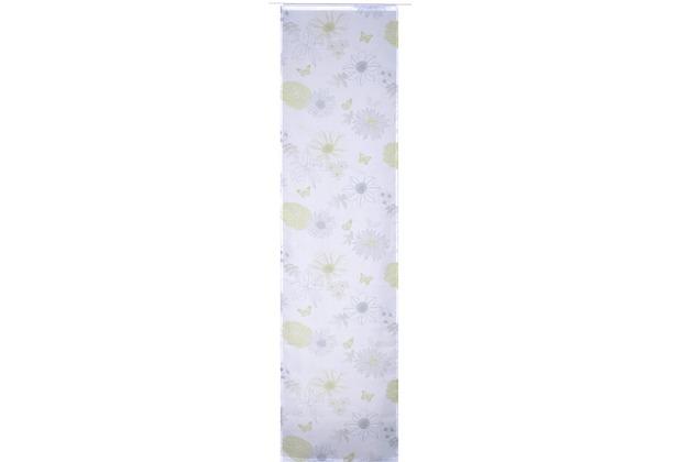 Paneelwagen 60 Cm ~ Elbersdrucke flächenvorhang flower mix weiß grün blau