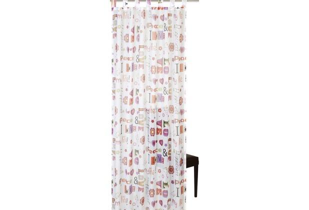 Elbersdrucke Streifenvoile Schlaufenschal Terracotta transparenter Vorhang orang