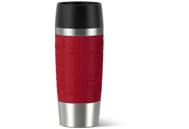 emsa isolierbecher travel mug manschette rot 0 36 liter. Black Bedroom Furniture Sets. Home Design Ideas