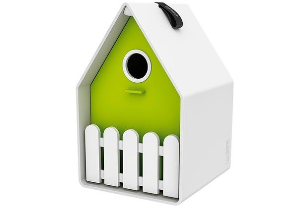 emsa landhaus vogelh uschen weiss gr n. Black Bedroom Furniture Sets. Home Design Ideas