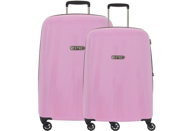 epic gto ex 4 rollen trolley kofferset 2tlg glosspink. Black Bedroom Furniture Sets. Home Design Ideas